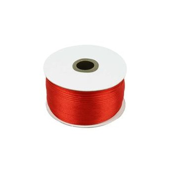 Satin snor 2mm - rød - 10m