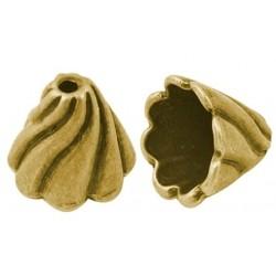 konisk perle guld 13 mm - 2 stk