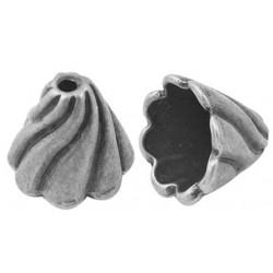 konisk perle sølv 13 mm - 2 stk