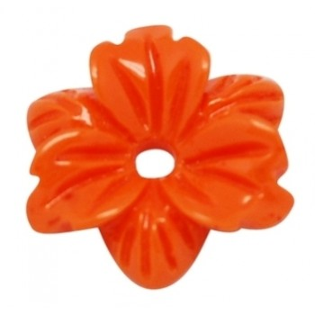 Smuk blomst 12 mm - 2 STK - ORANGE