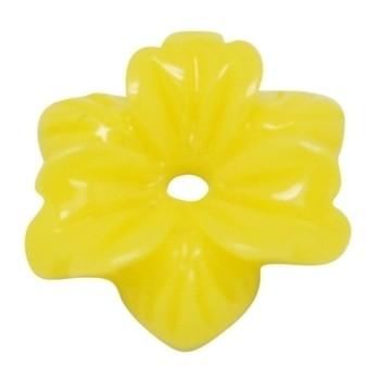 Smuk blomst 12 mm - 2 STK - GUL