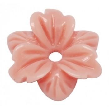 Smuk blomst 12 mm - 2 STK - ROSA