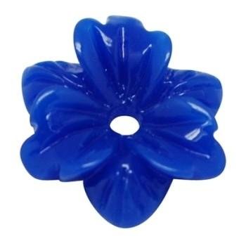 Smuk blomst 12 mm - 2 STK - BLÅ