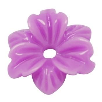 Smuk blomst 12 mm - 2 STK - LILLA