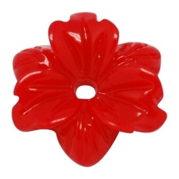 Smuk blomst 12 mm - 2 STK - RØD