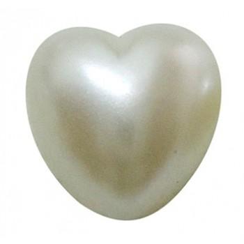 Perlemors hjerter med flad bagside 8 mm - 2 stk