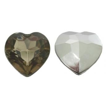 Store facet hjerter 16 mm - 4 stk