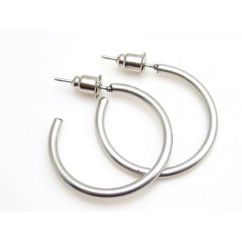 Stål øreringe 24 mm