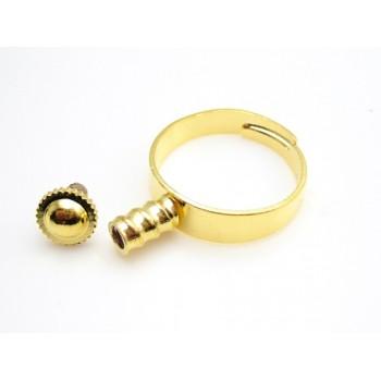 Lækker ring gylden ONE SIZE - til at sætte led på