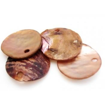 Rå rød - brun skaller 14 mm - 6 stk
