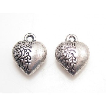 Hjerter med mønster 12 mm - 2 stk
