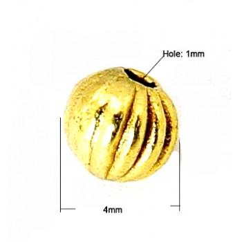 Gylden perle 4 /  mm - 25 STK