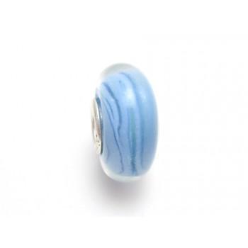 Glas led blå med striber
