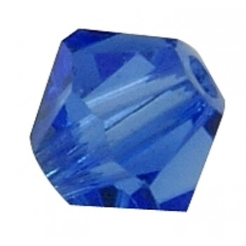 Swarowski bicone 8 mm safir blå - 2 stk