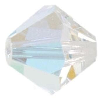 Swarowski bicone 4 mm krystal klar - 2 stk