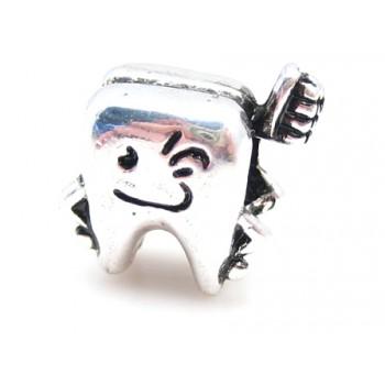 Tand sølv 14 / 5 mm