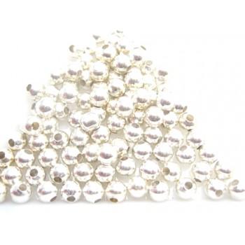 Sølv perler 4 / 1,5 mm - 100 stk - GODT TILBUD