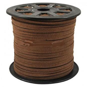 Ruskind im. 3 x 1,5 mm mellem brun - 1 m