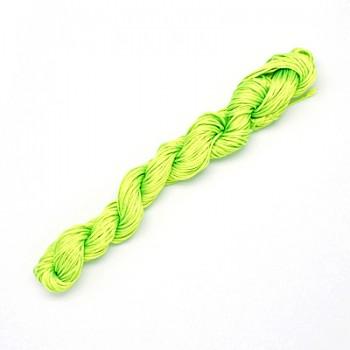 Knyttesnor 1,7 mm x 18 m syntetisk neon grøn