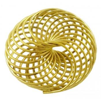 Wire perle guld 22 mm - stk