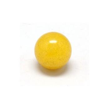 Anboret jade gul 12 mm - 2 stk
