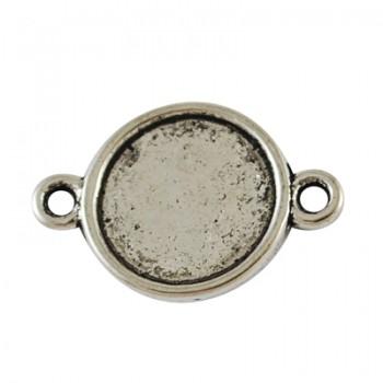 Forbindelses perle sølv 18 mm - 12 stk