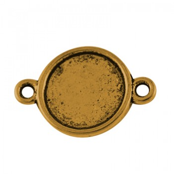Forbindelses perle Guld 18 mm - 12 stk