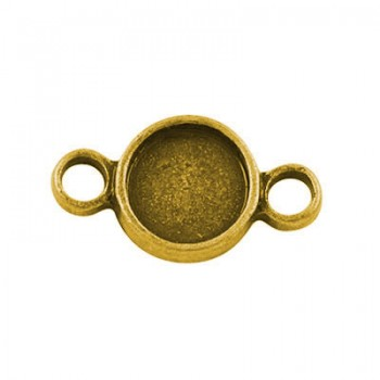 Forbindelses perle guld 16 mm - 14 stk