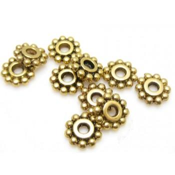 Mellem rondel guld 4 / 1 mm - 20 stk