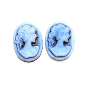 Cameo blå 10 x 13 mm - 2 stk