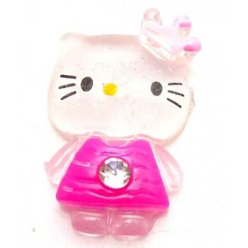 Hello Kitty pink med sten, flad bagside