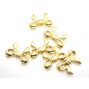 Sløjfe 14 mm guld - 6 stk