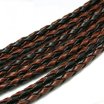 Bola Imiteret brun / sort 3 mm tyk - pr m