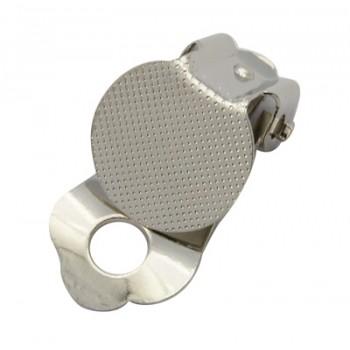 Øreclips sølv med plade - 2 PAR