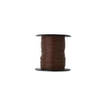 Læder snøre 2 mm - brun - 10 m