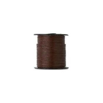 Læder snøre 1 mm  Brun / coffe - 10 m