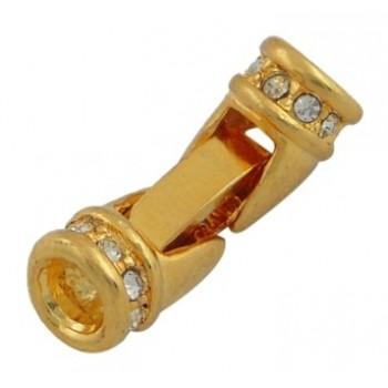 Guld belagt lås til wire...
