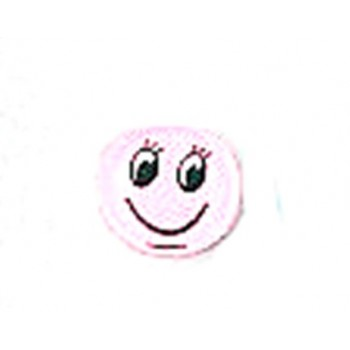 Smiley med flad bagside 12 mm rosa - 1 par