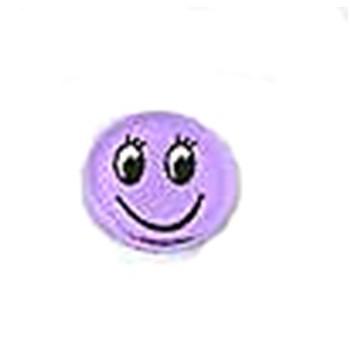 Smiley med flad bagside 12 mm Lilla  - 1 par