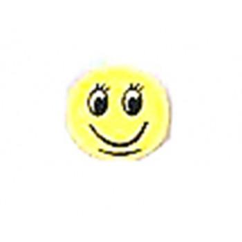 Smiley med flad bagside 12 mm gul - 1 par