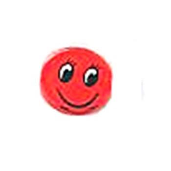 Smiley med flad bagside 12 mm Rød - 1 par