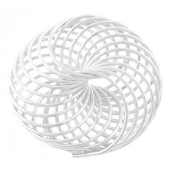 Wire perle sølv 22 mm - 2 stk