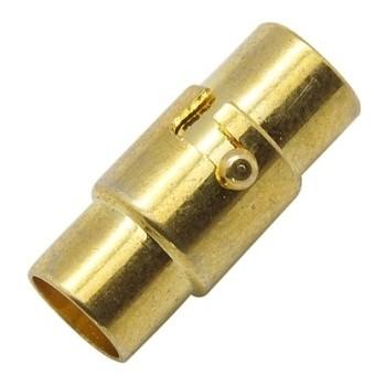 Bajonet magnet lås m/ enderør guld bel. 6mm indv. hul