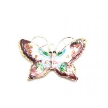 Cloisonne sommerfugl Brun