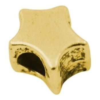 Stjerne i tibet guld 11 / 4 mm - 2 STK