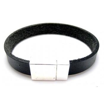 Armbånd med læder bånd