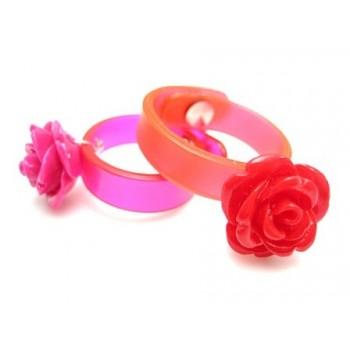 Silikonering med rose