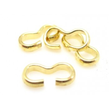 Forbindelses led guld - 9 mm - 10 stk