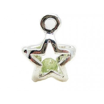 Stjerne sølv belagt  15 mm...