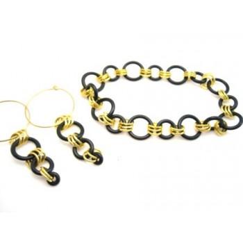 Guld og gummi o-ring